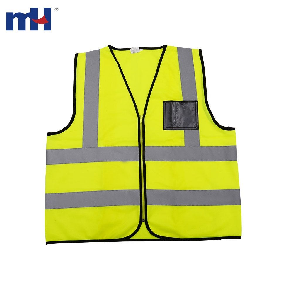 5f91664f6b7 Chaleco de trabajo de seguridad amarillo de alta visibilidad