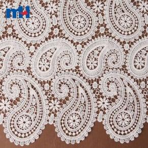 white guipure lace fabric