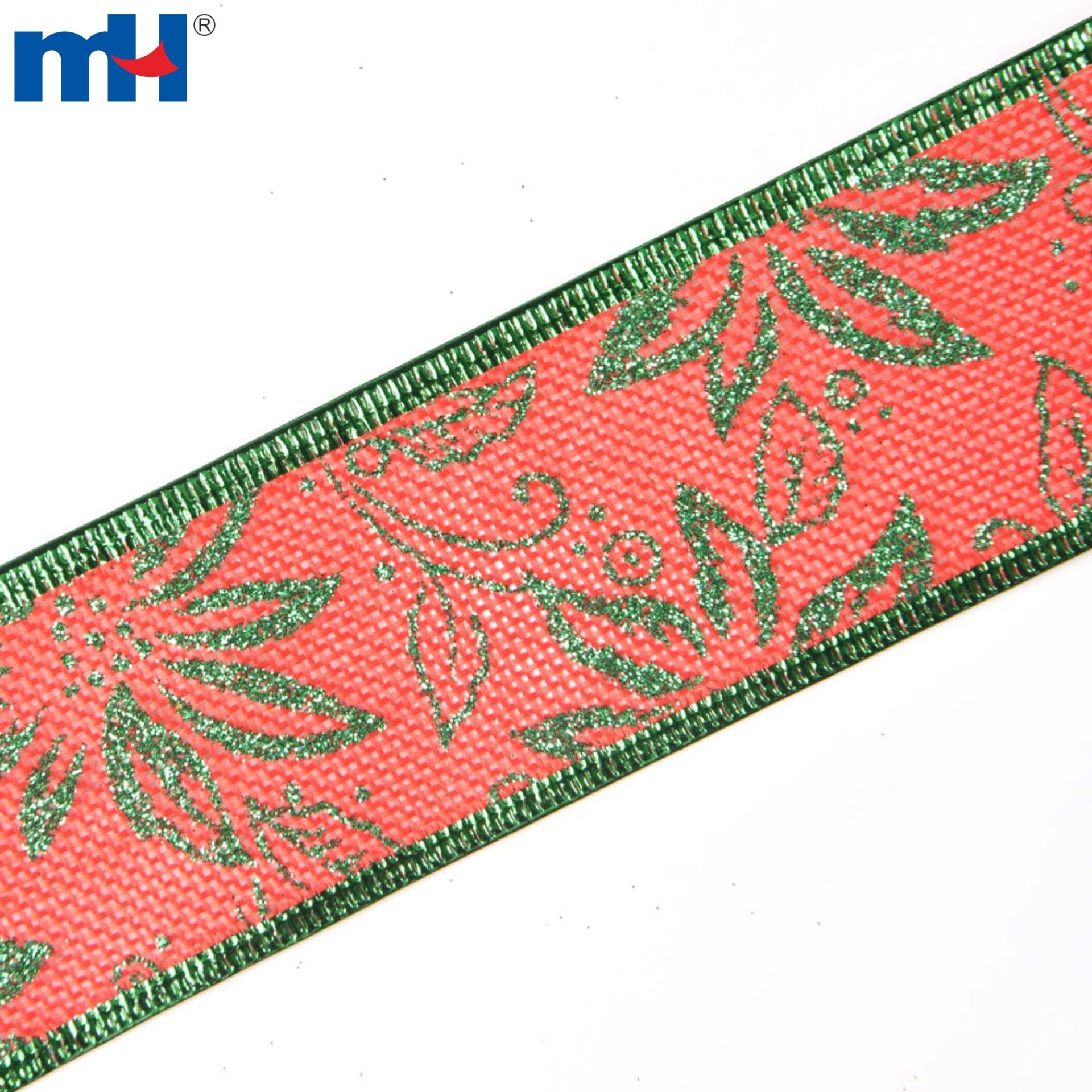 Burlap Christmas Tree Ribbons for Wreath Bows - Ningbo MH