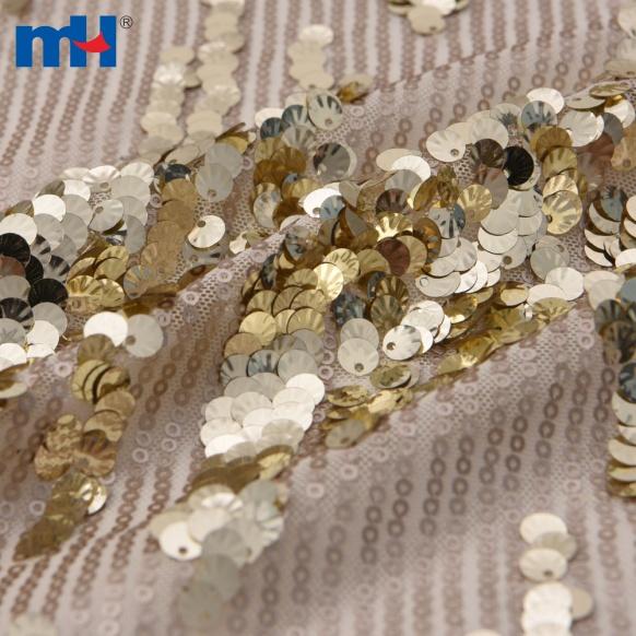 gold sequins lace