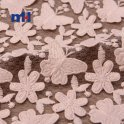 embroidered mesh lace fabric