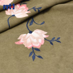 M008428-1 twill embroidered fabric