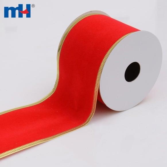0117-0016 Red Velvet Christmas Ribbons