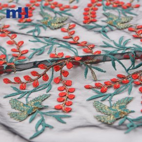 metallic embroidered fabric