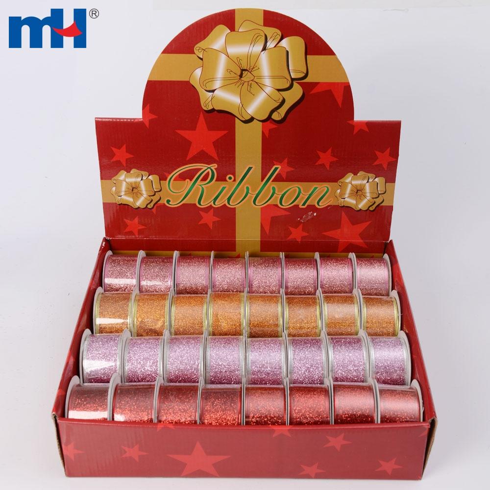 metallic christmas ribbon