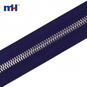 0254-306A silver teeth metal zipper chain