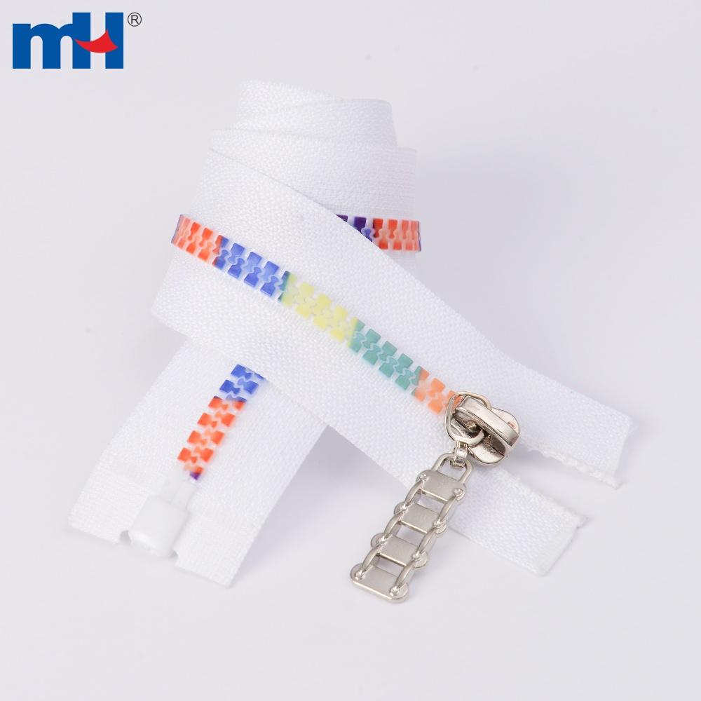 0231-4232 multi-color teeth plastic zipper