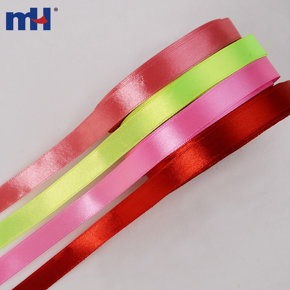 1 2 Quot Wide Polyester Single Sided Satin Ribbon For Sale