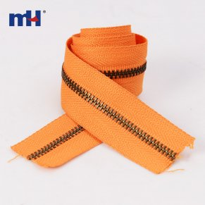 0249-3013 # antic brass zipper long chain
