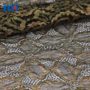 tissu de dentelle métallique