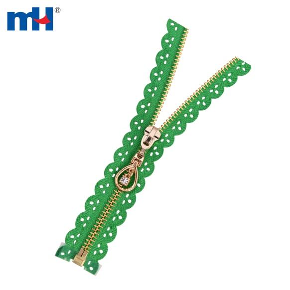 0251-4077 metal brass teeth zipper