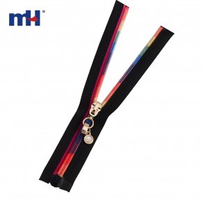 0287-9059 colorful teeth zipper
