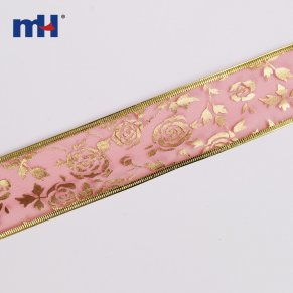 0117-0115-1 Gold foil christmas ribbon
