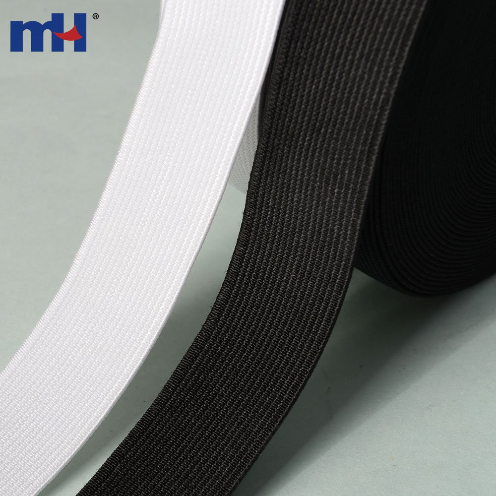 High Quality 15MM Flat Woven Elastic Black White Waistband Tailoring Dressmaking