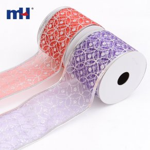 0117-0142 wired edge sheer ribbon