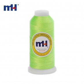 fluorescent green embroidery thread