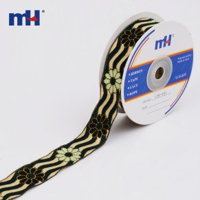 metallic jacquard ribbon trim