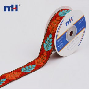 metallic jacquard ribbon