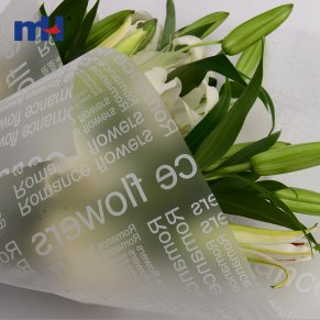 opp flower wrapping paper