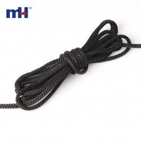 black polypropylene braided rope