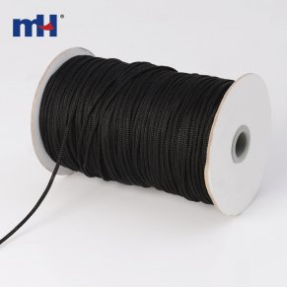corde tressée en polypropylène noir