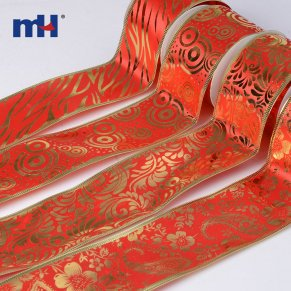 wired edge red ribbon