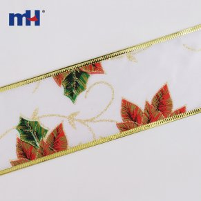 Wired Maple Leaf Ribbon