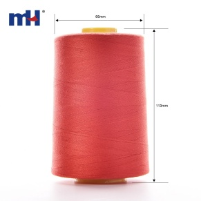 green polyester thread
