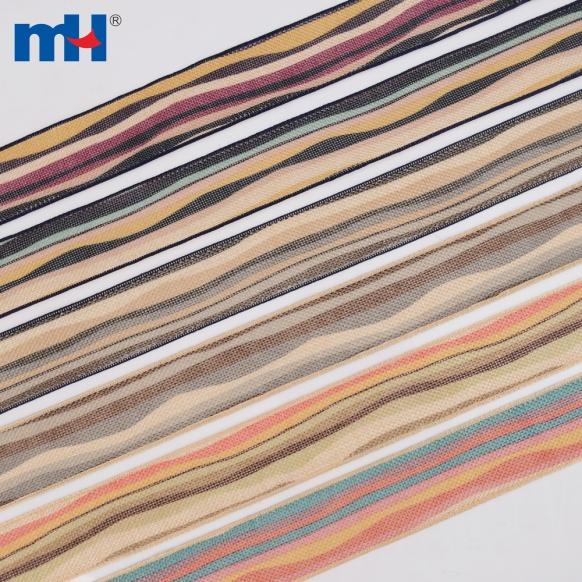 Цветная лента Burlap Stripe