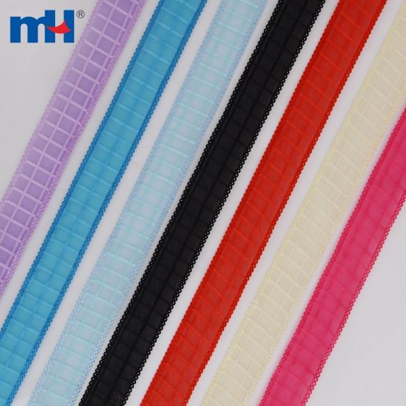 gingham sheer ribbon 25MM