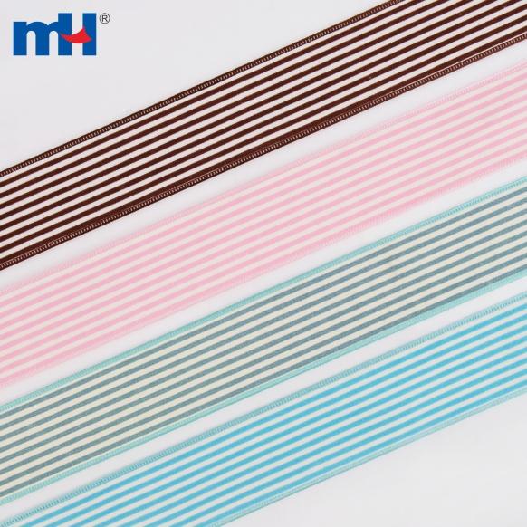 striped hessian ribbon