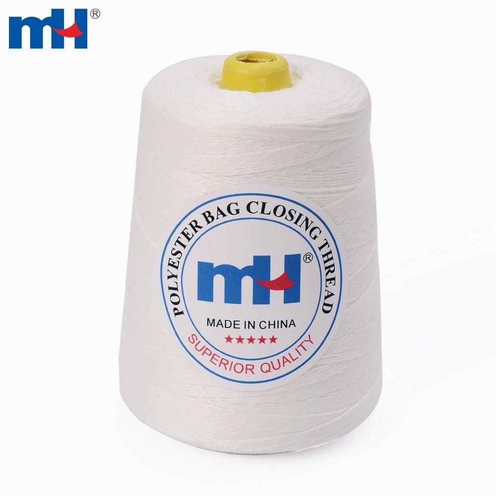 Fil de fermeture de sac de polyester filé