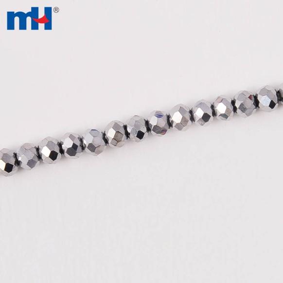 MHNE-0203    扁珠3mm电镀AB彩