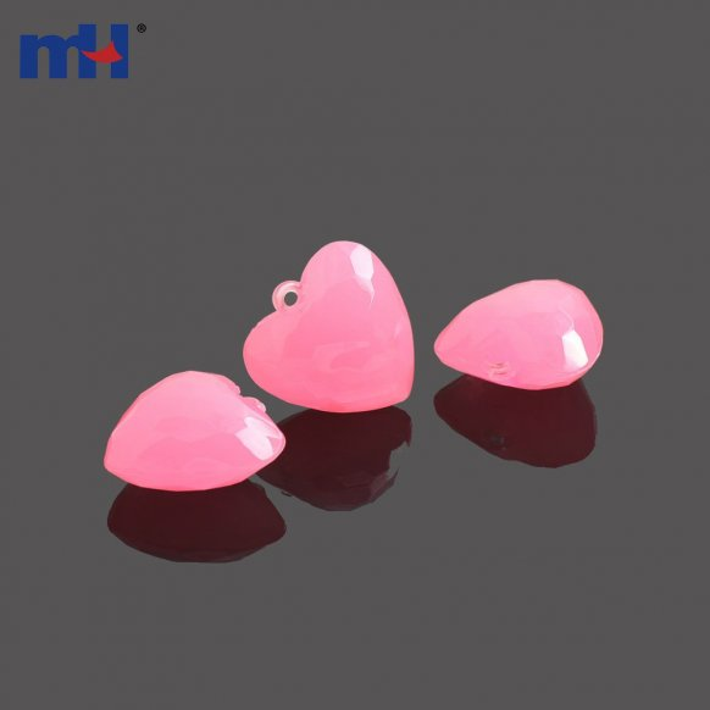 Heart Acrylic Beads