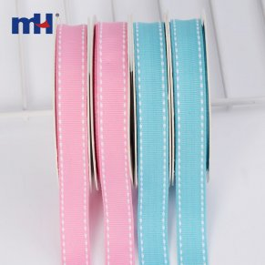 saddle stitch grosgrain ribbon