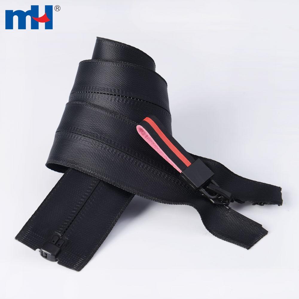 5 Black Open End Tpu Waterproof Zippers For Raincoats