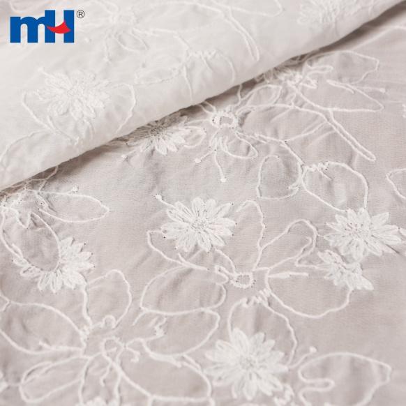 tecido bordado de chiffon