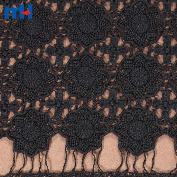 tela de encaje negro