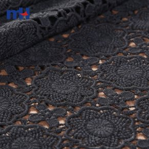 black embroidery fabric