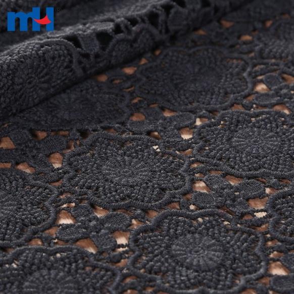 tissu de broderie noir