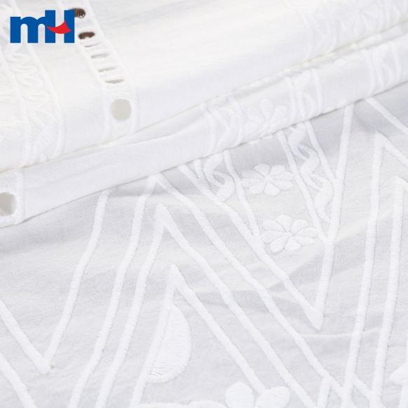Tissu en dentelle de coton M005984A