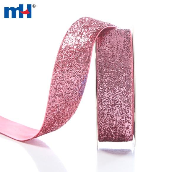розовая лента с блестками