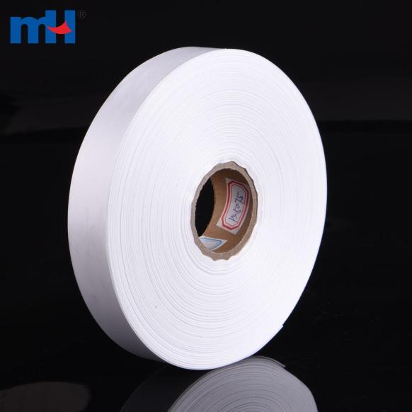 rótulo de fita de cetim em branco