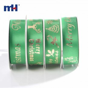 hot stamping satin ribbon