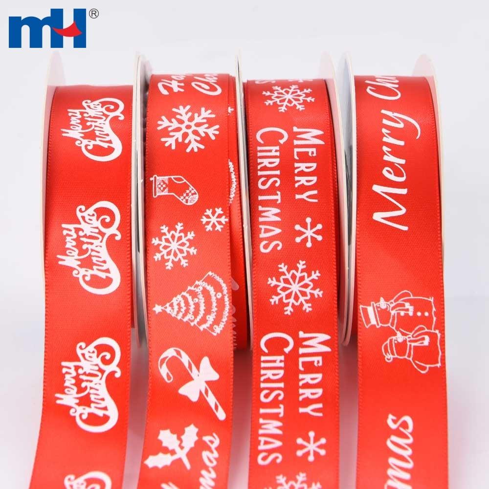 red satin christmas ribbon