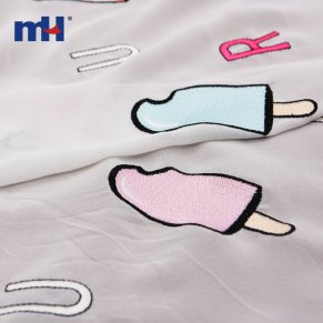popsicle embroidered fabric