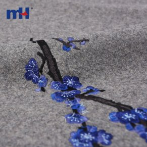 woolen embroidery fabric