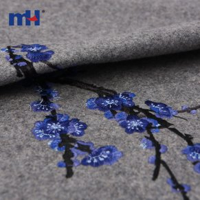 woolen embroidered fabric