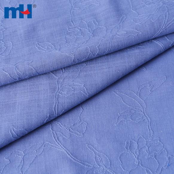 embroidered slub cloth