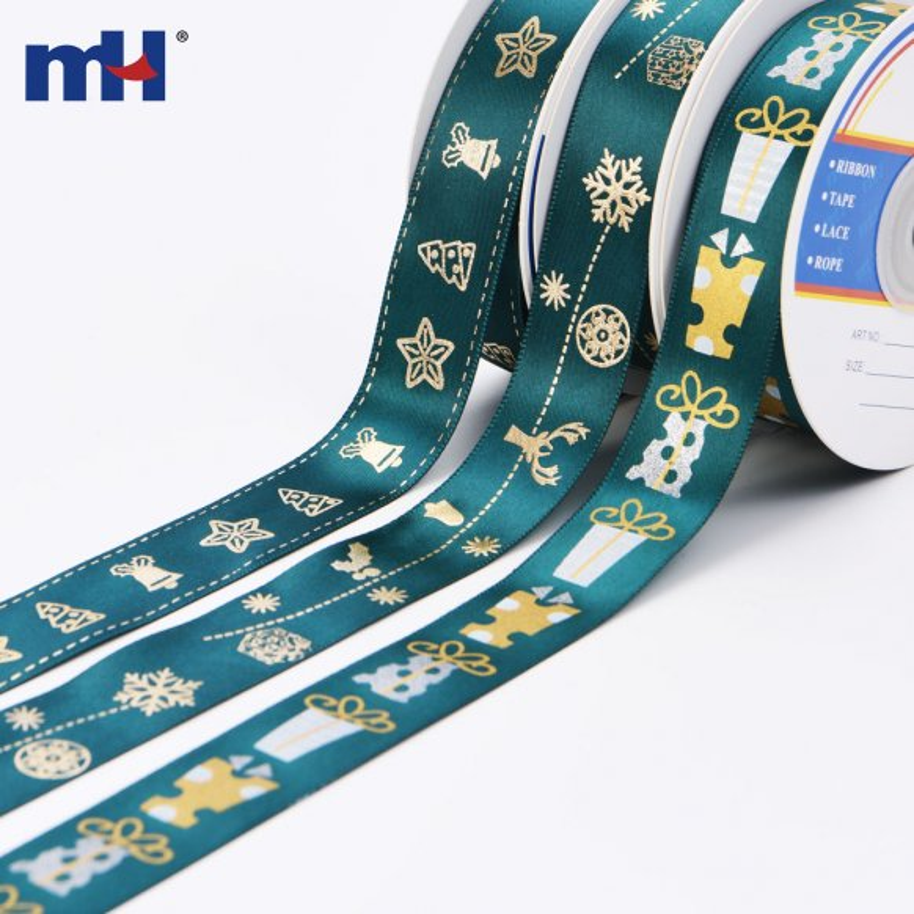 gold foil christmas ribbon